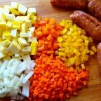 Hot Italian Sausage and Rice Casserole