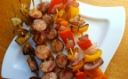Kielbasa and Vegetable Skewers