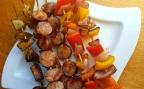 Kielbasa and Vegetable Skewers