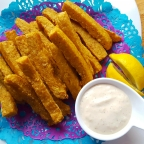 Baked Chickpea and Polenta Fries